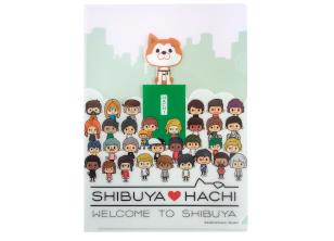 SHIBUYA♡HACHIクリアファイル